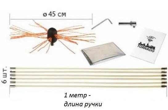 роторный набор для чистки дымохода