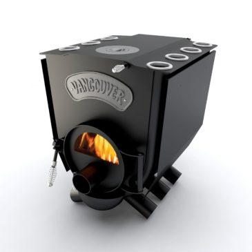 Печка канадская Булерьян Vancouver Lux со стеклом и конфоркой ПО Б 01 ЧК С