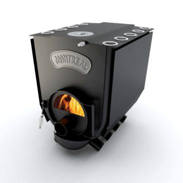 Печка Булерьян Montreal Lux со стеклом и конфоркой ПО-Б 02 ЧК С